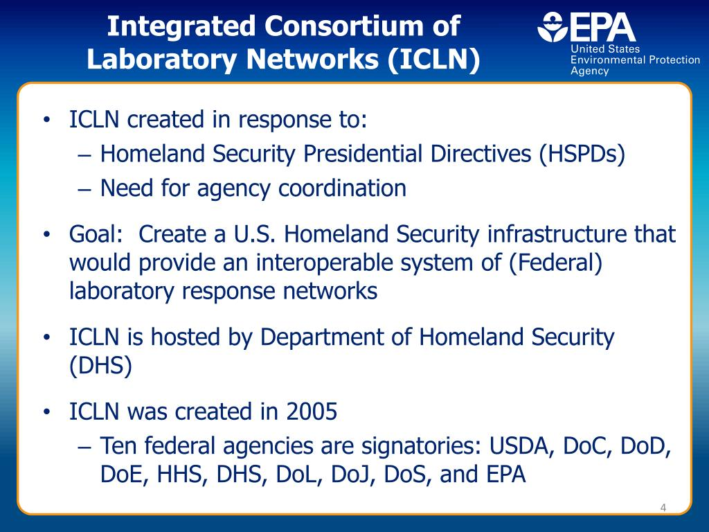 Integrated Consortium of Laboratory Networks (ICLN)