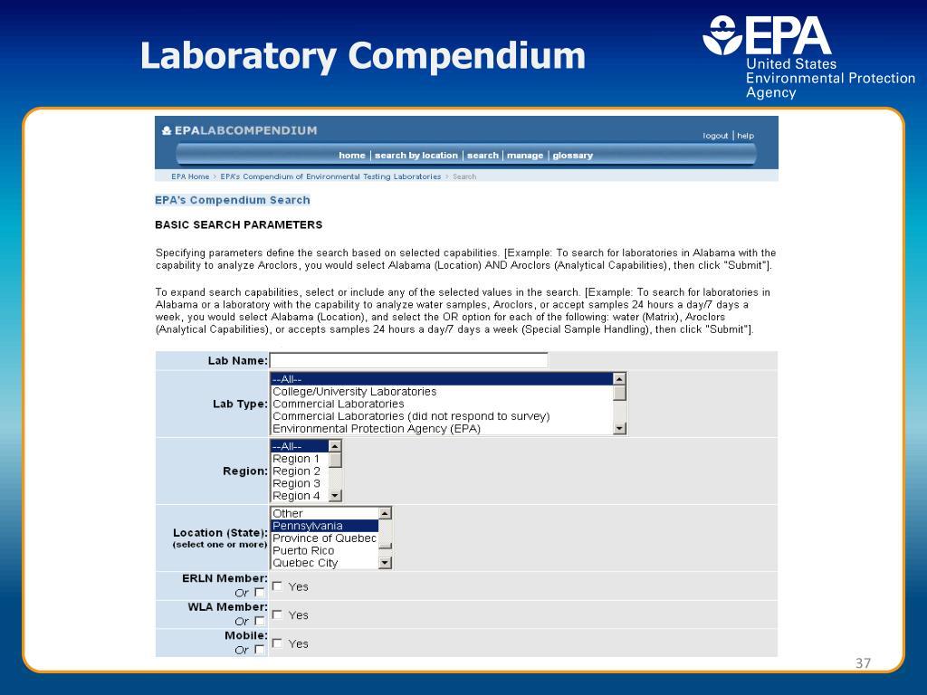 Laboratory Compendium