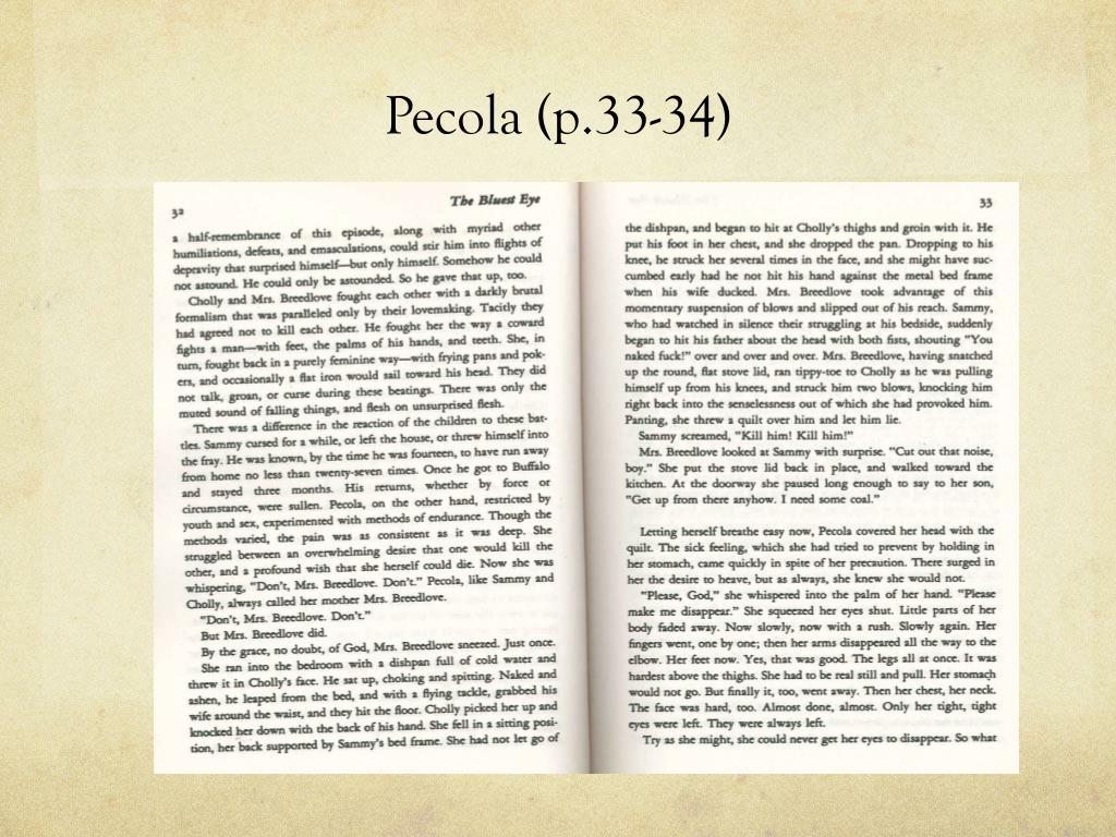 Pecola (p.33-34)