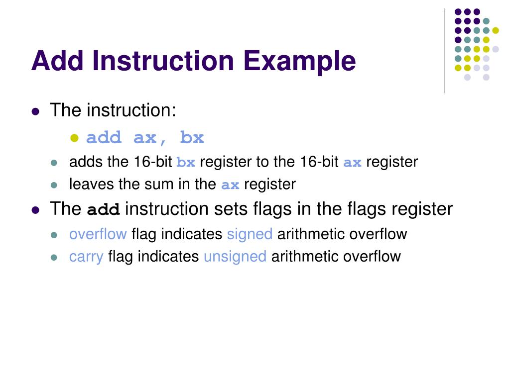 Add Instruction Example