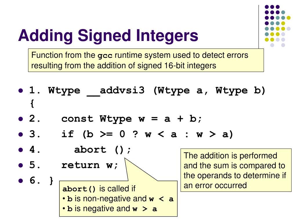 Adding Signed Integers