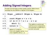 adding signed integers