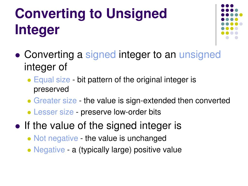 Converting to Unsigned Integer