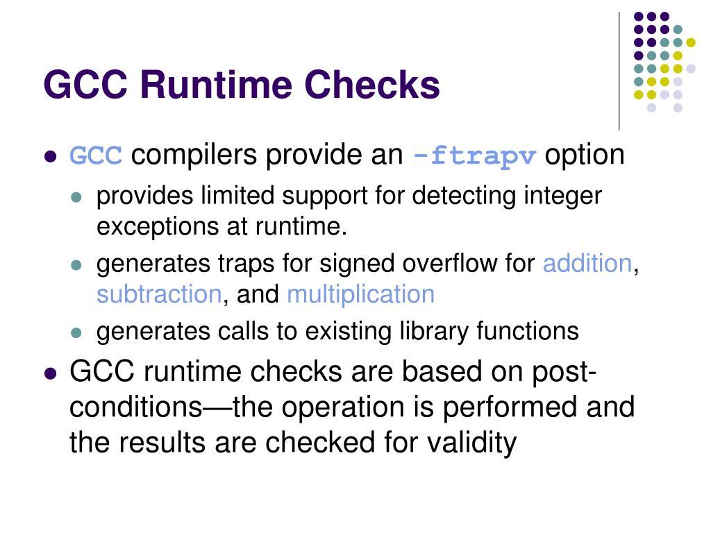 GCC Runtime Checks