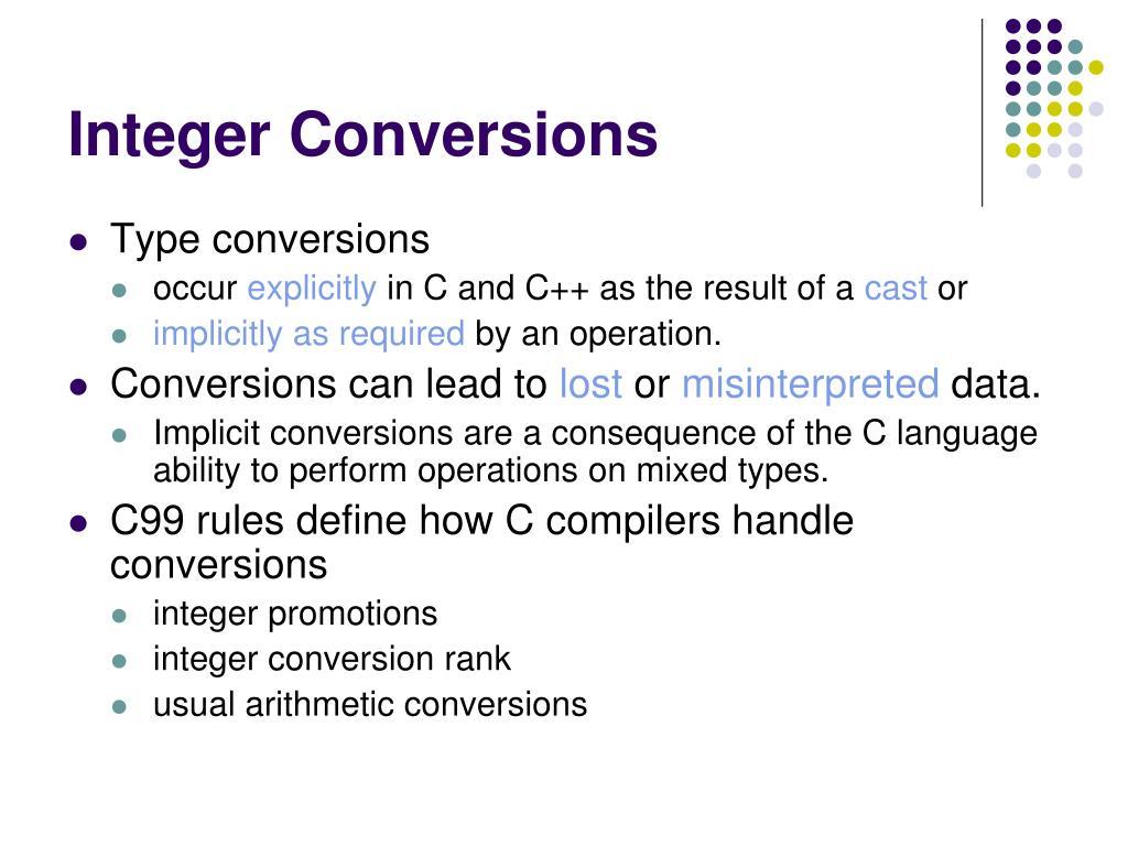 Integer Conversions