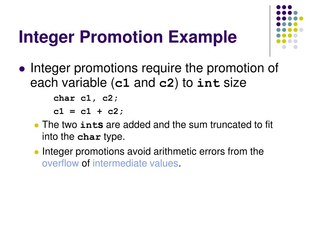 Integer Promotion Example
