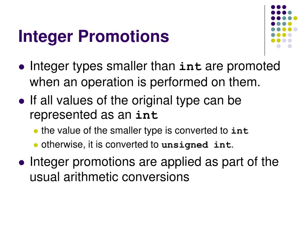 Integer Promotions