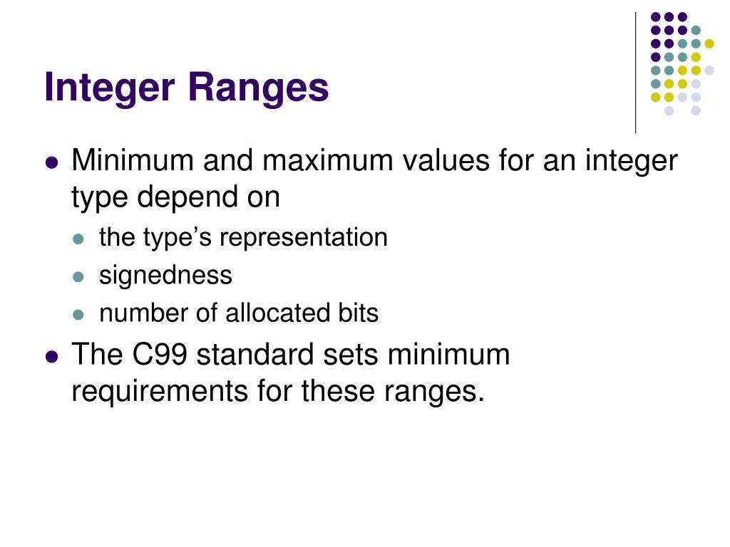 Integer Ranges