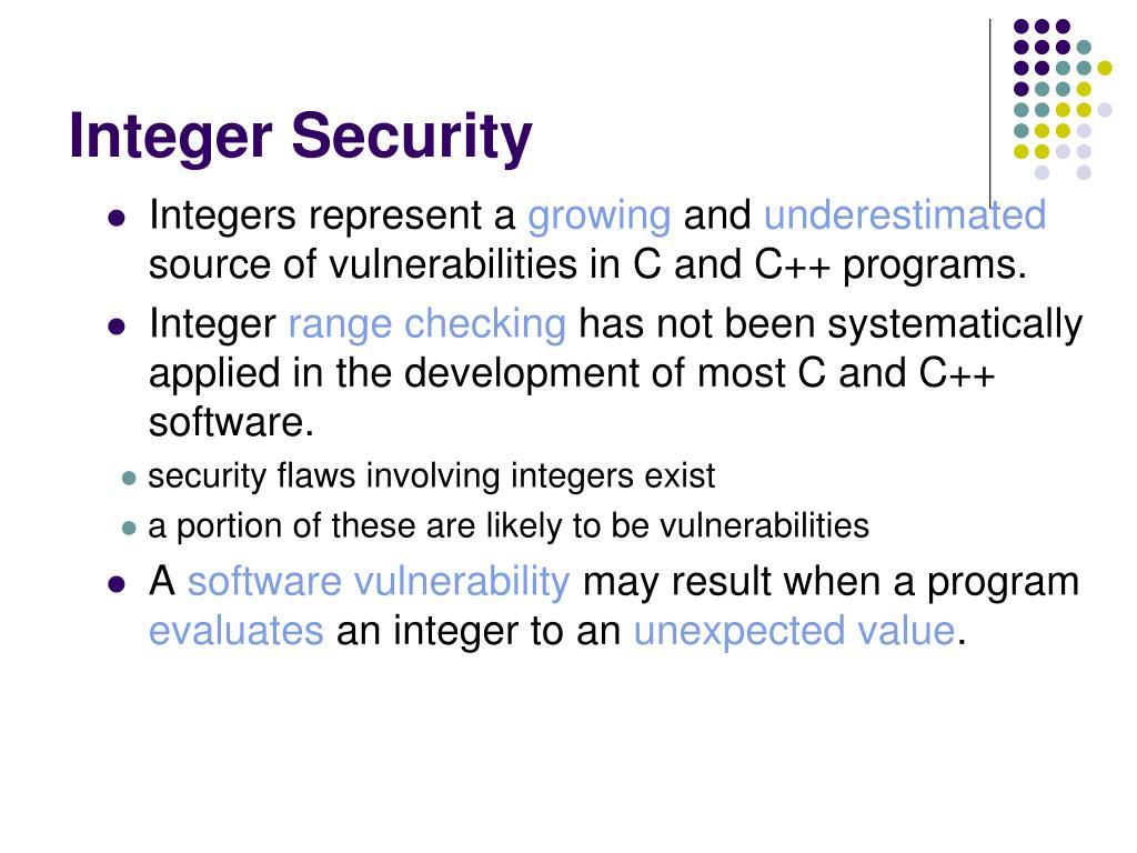 Integer Security