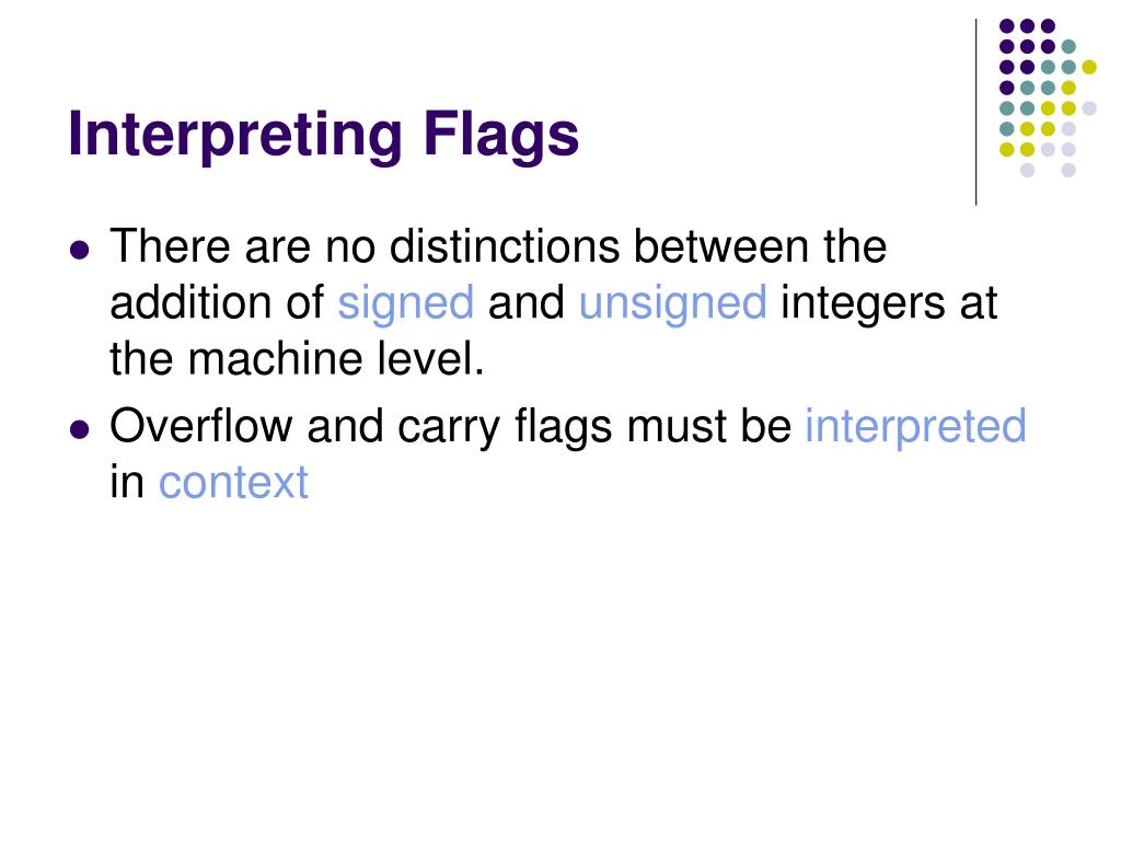 Interpreting Flags