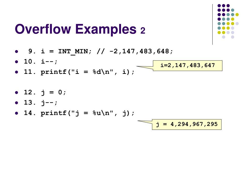 Overflow Examples