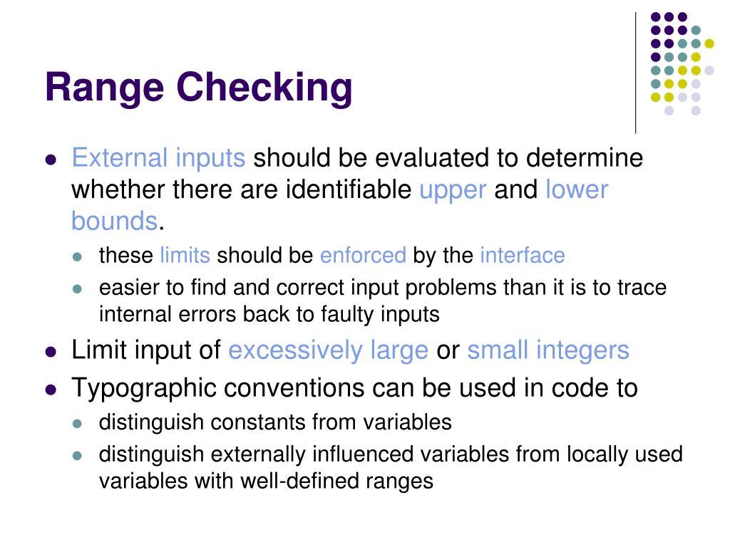 Range Checking