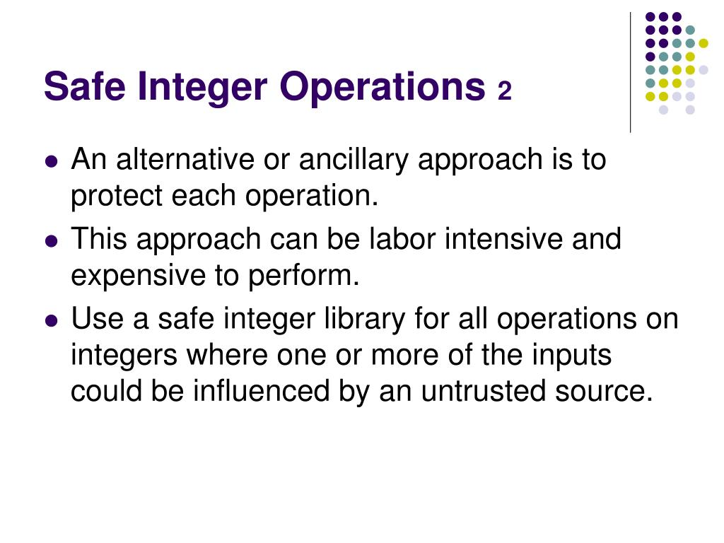 Safe Integer Operations