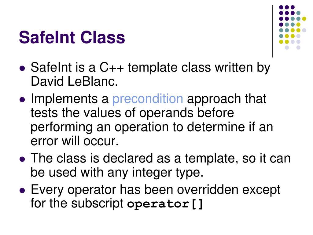 SafeInt Class