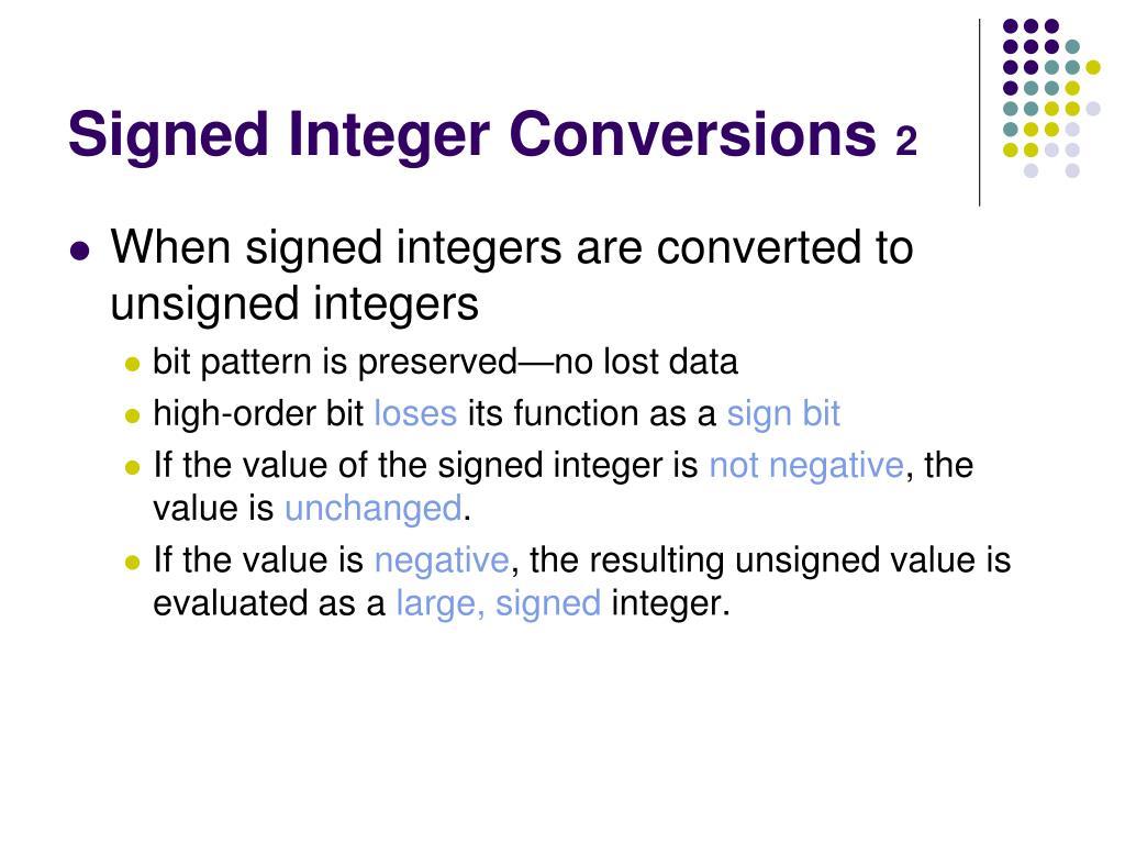 Signed Integer Conversions