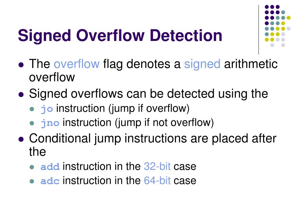 Signed Overflow Detection