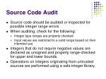 source code audit