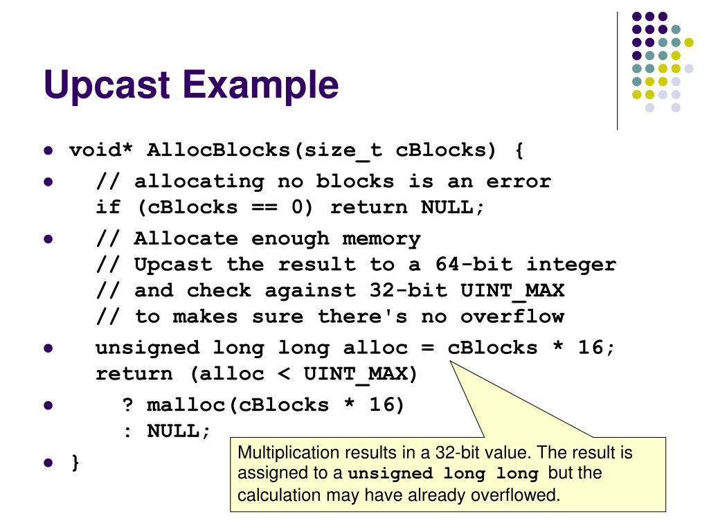 Upcast Example