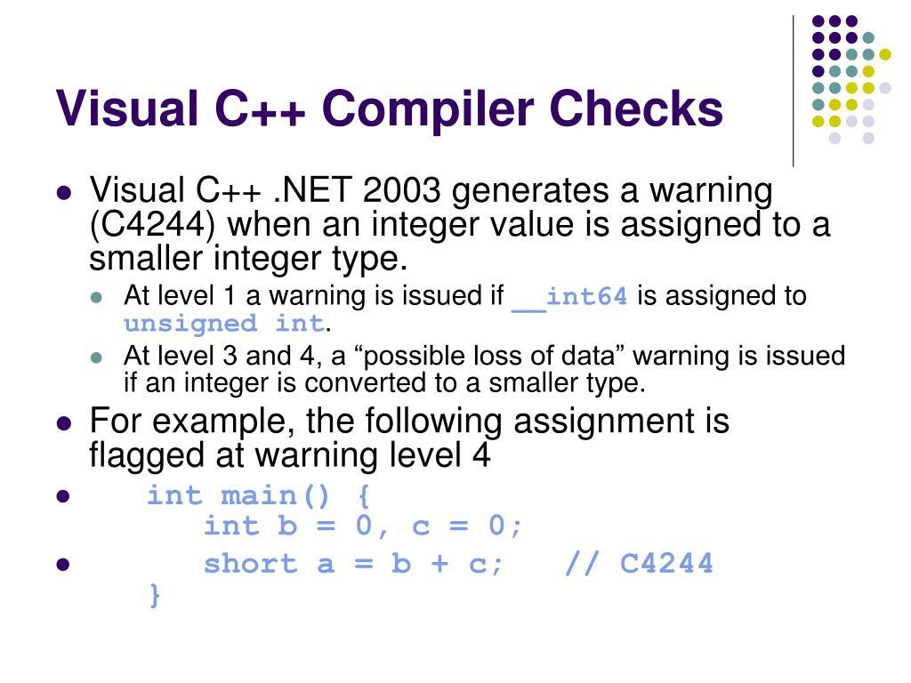 Visual C++ Compiler Checks