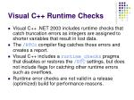 visual c runtime checks