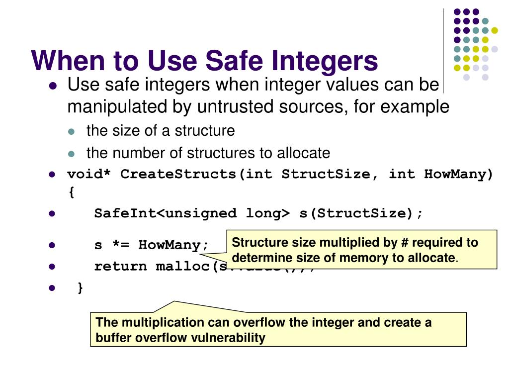 When to Use Safe Integers