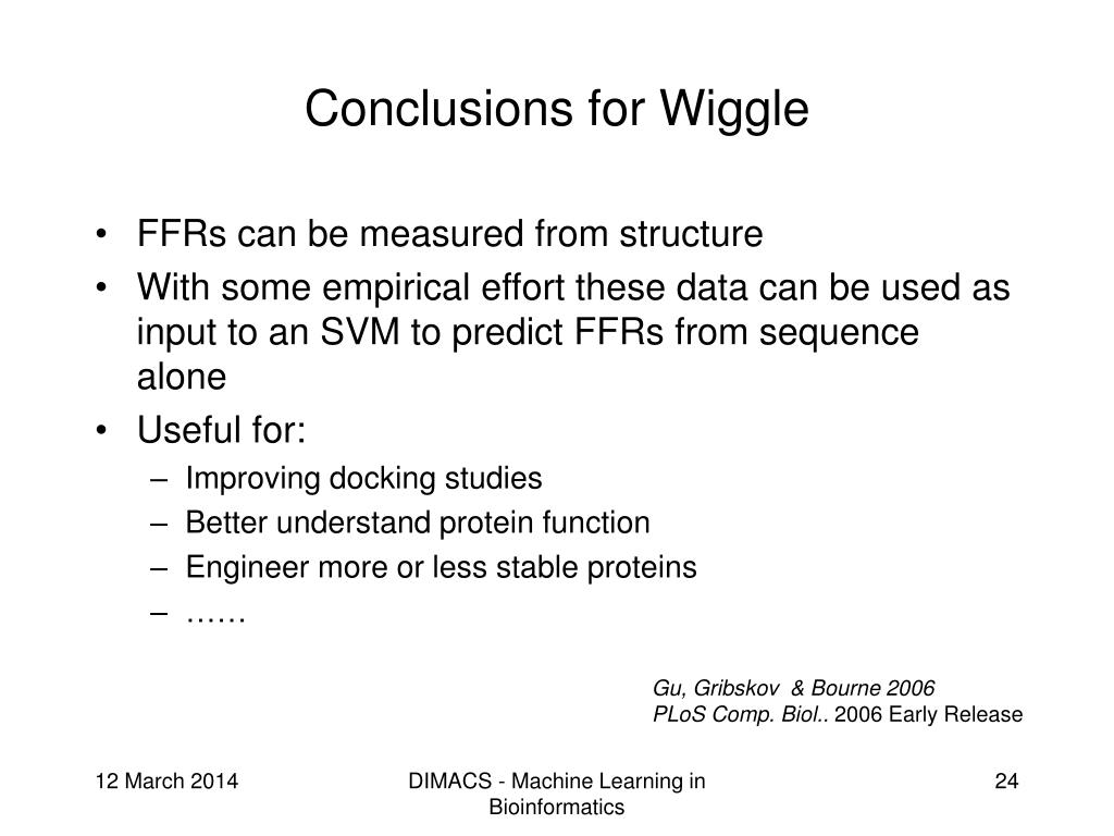 Conclusions for Wiggle