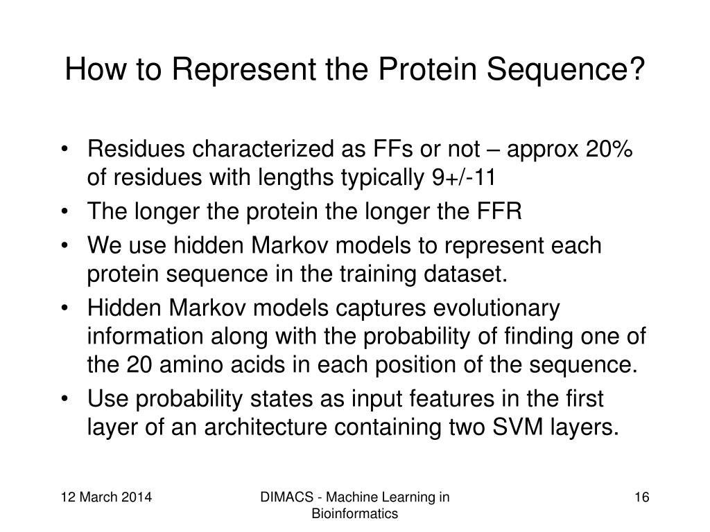 How to Represent the Protein Sequence?