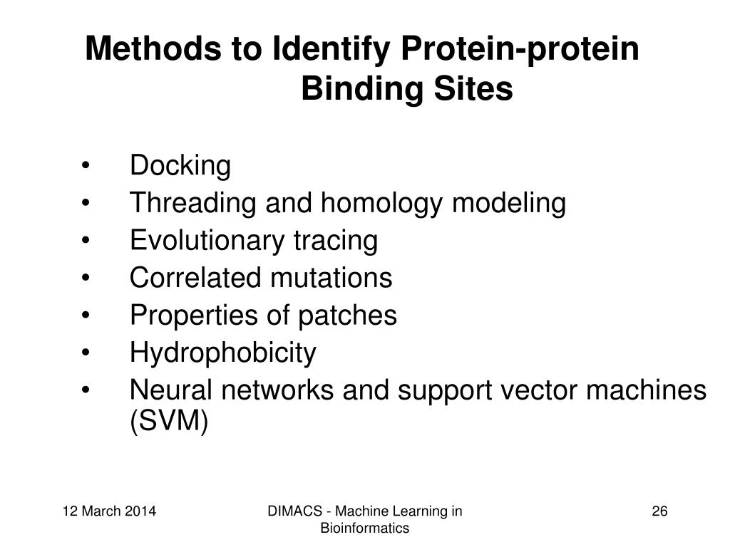 Methods to Identify Protein-protein Binding Sites
