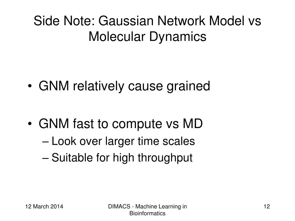 Side Note: Gaussian Network Model vs Molecular Dynamics
