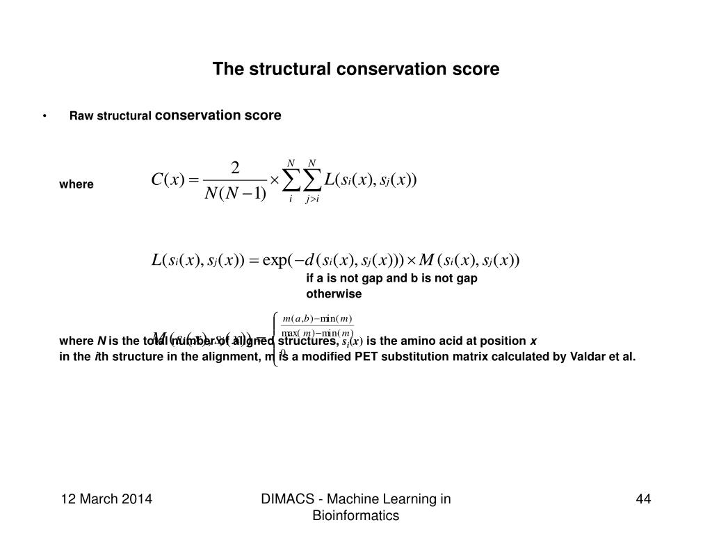 The structural conservation score
