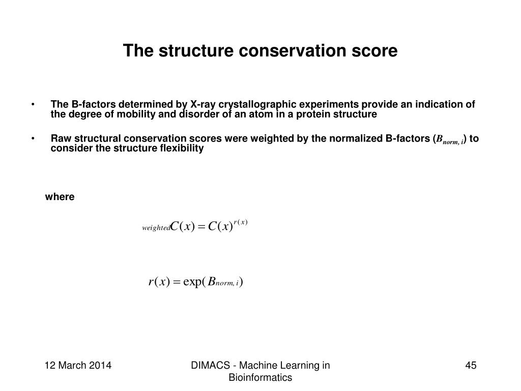 The structure conservation score