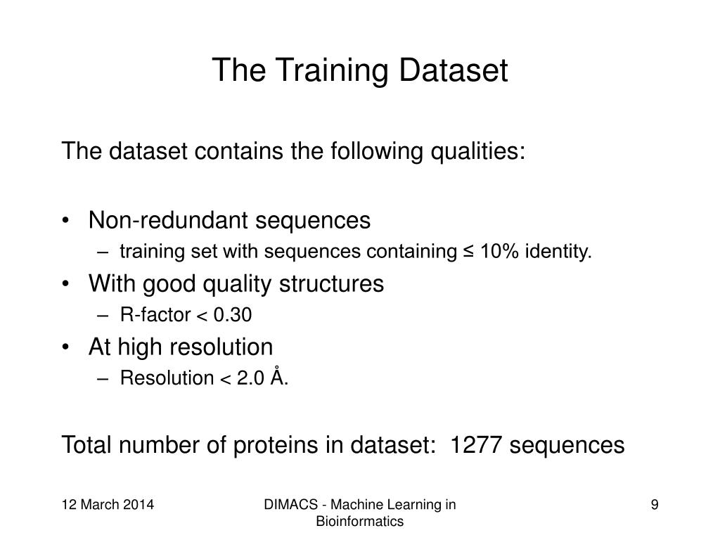 The Training Dataset