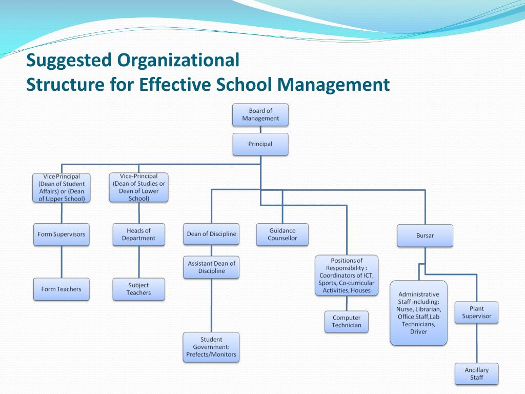 management and organizational structure issues The organizational structure reflects the composition and hierarchy of company's divisions, determines the distribution of authorities and responsibilities within the organization, and facilitates the understanding by workers their responsibilities.