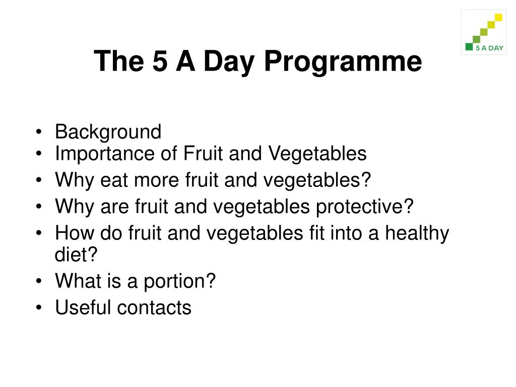 The 5 A Day Programme