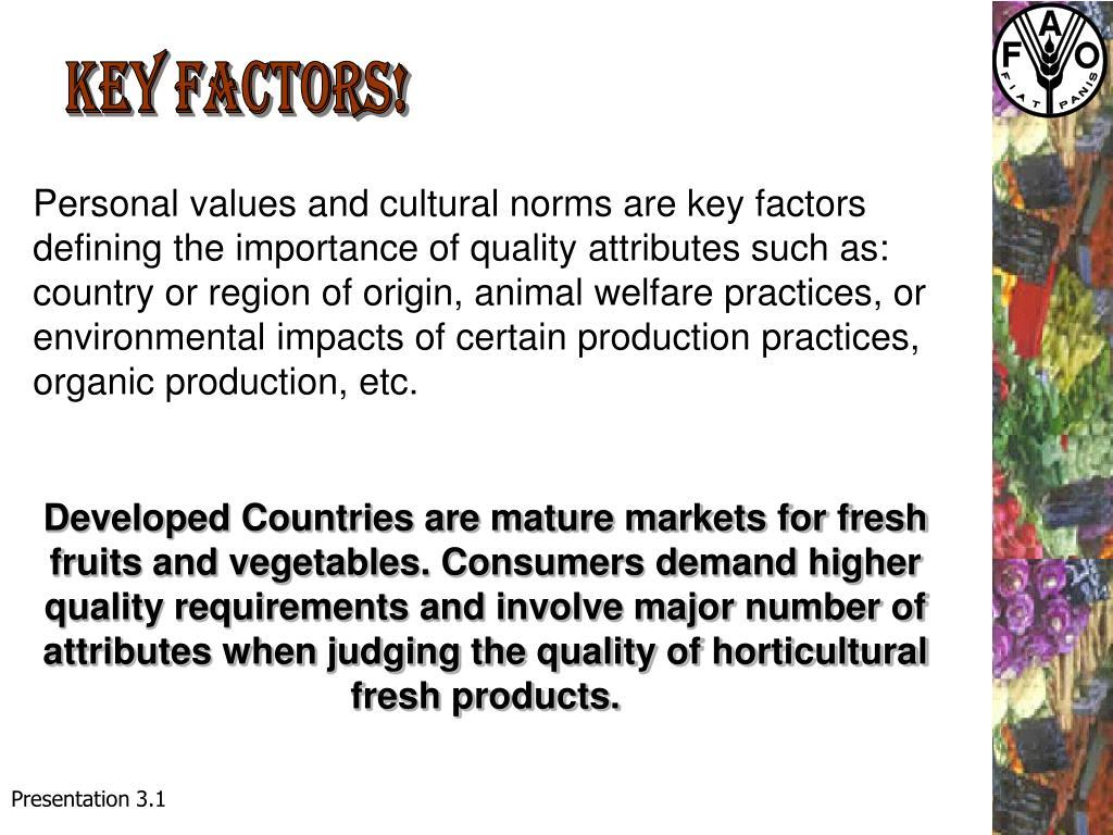 Key factors!