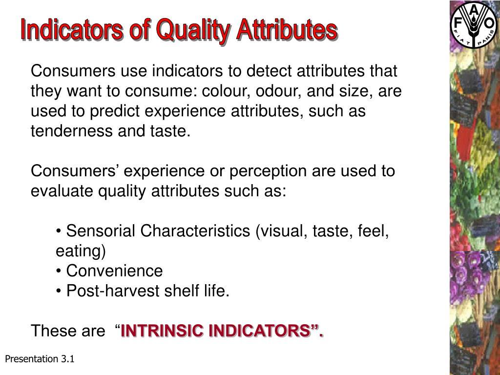 Indicators of Quality Attributes