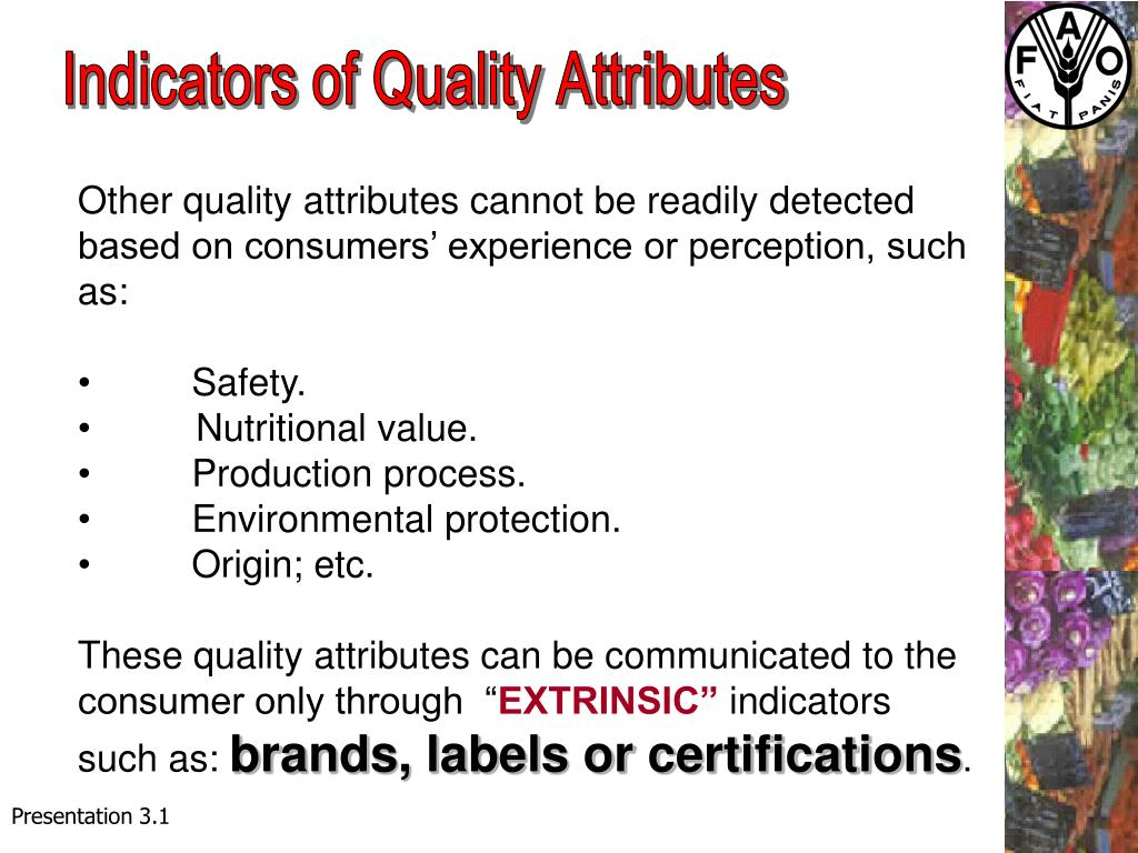 Indicators of Quality Attributes