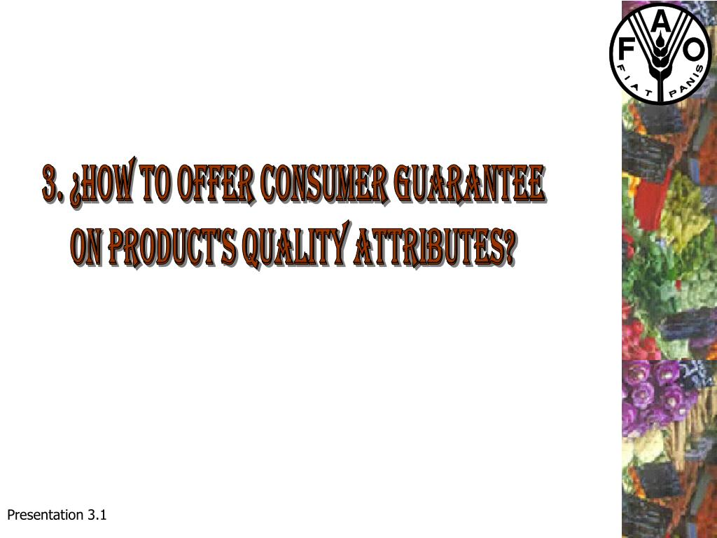 3. ¿How to offer consumer guarantee