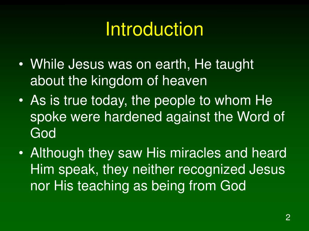 "an introduction to the parable of the sower The parables of jesus  an introduction to the new testament  do you think ""parable of the sower"" is the most descriptive title of the story."