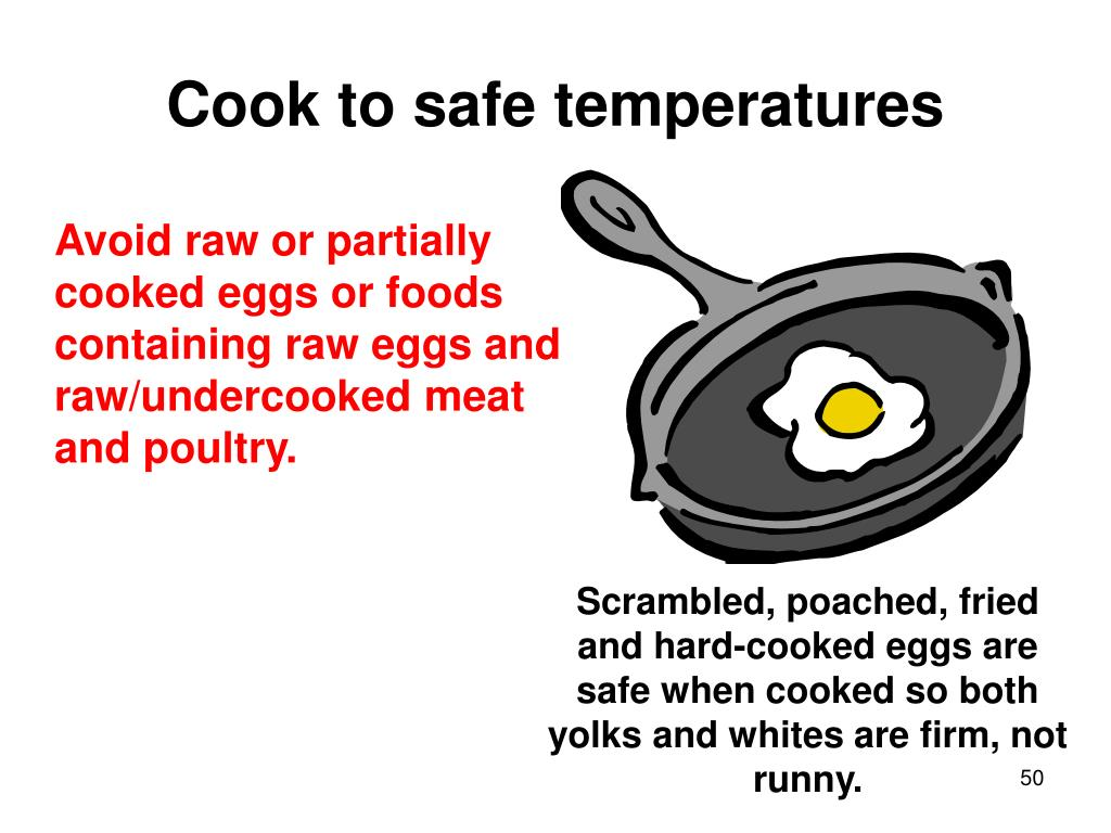 Cook to safe temperatures