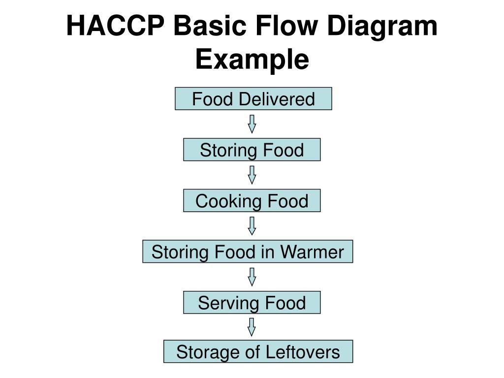 HACCP Basic Flow Diagram Example