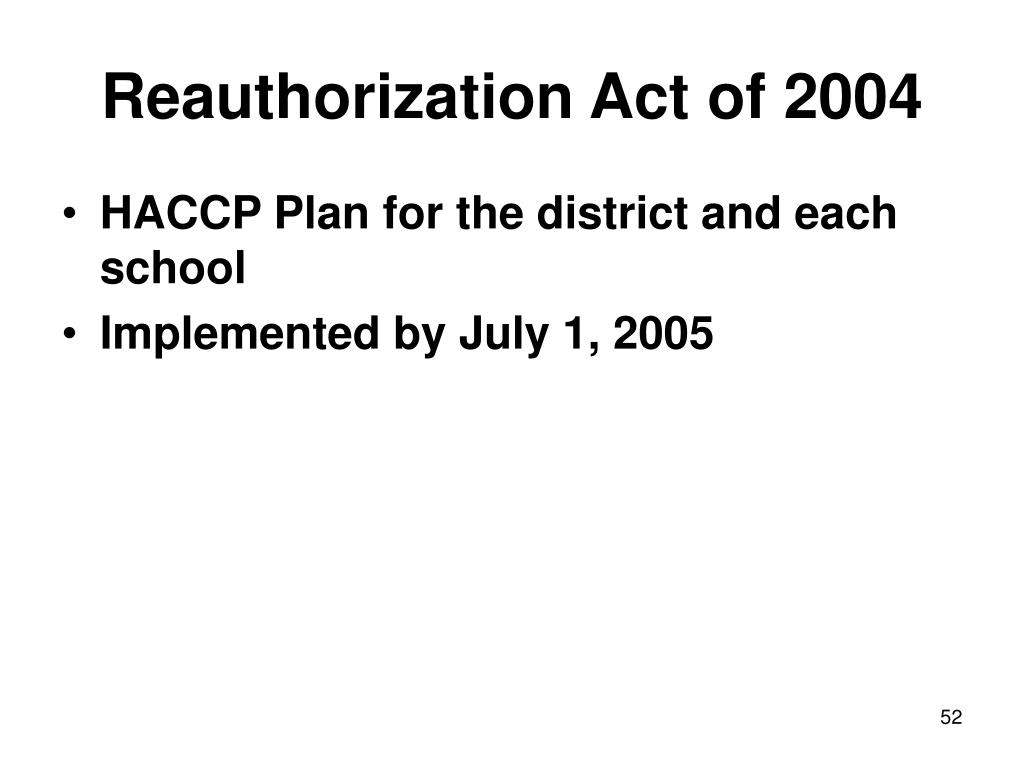 Reauthorization Act of 2004