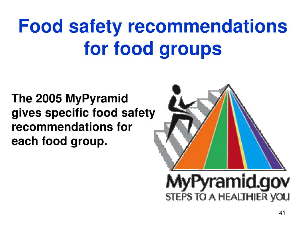 Food safety recommendations