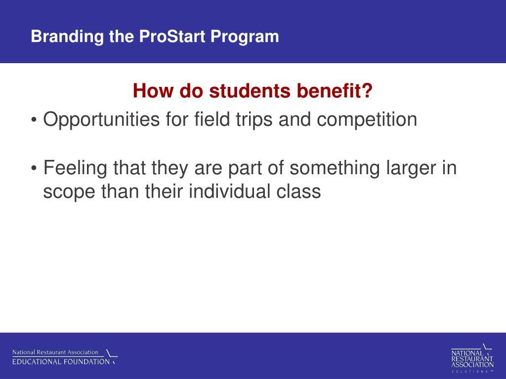 Branding the ProStart Program