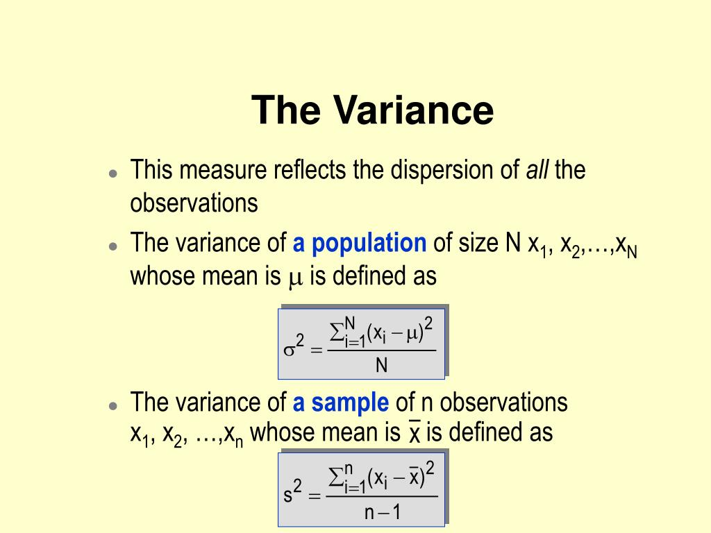 This measure reflects the dispersion of
