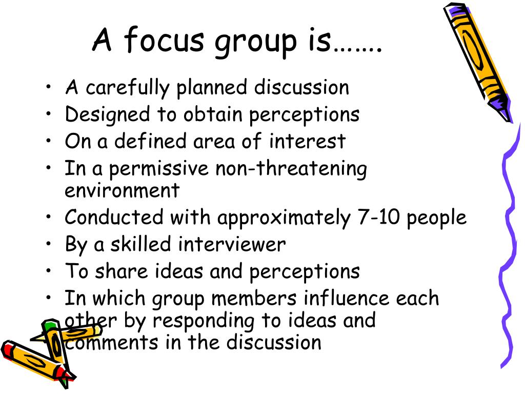 A focus group is…….