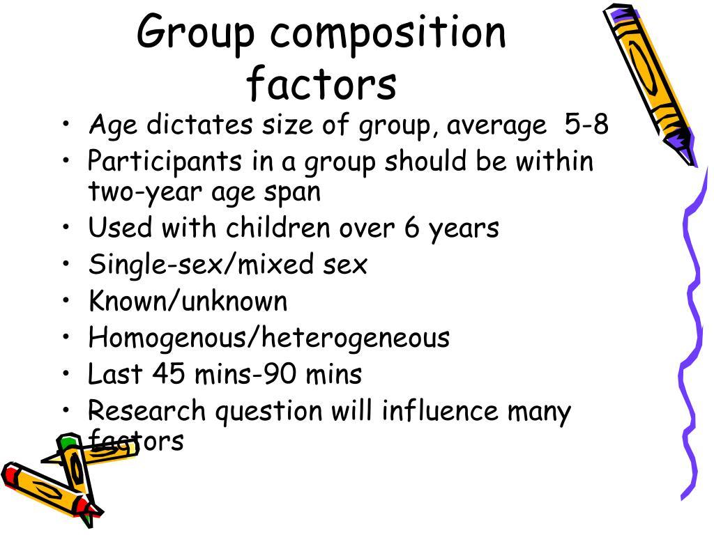 Group composition factors