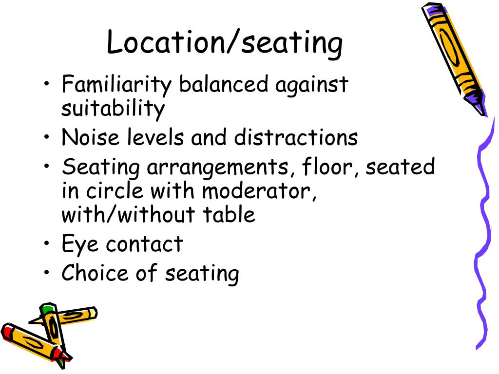 Location/seating