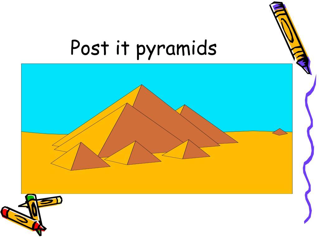 Post it pyramids
