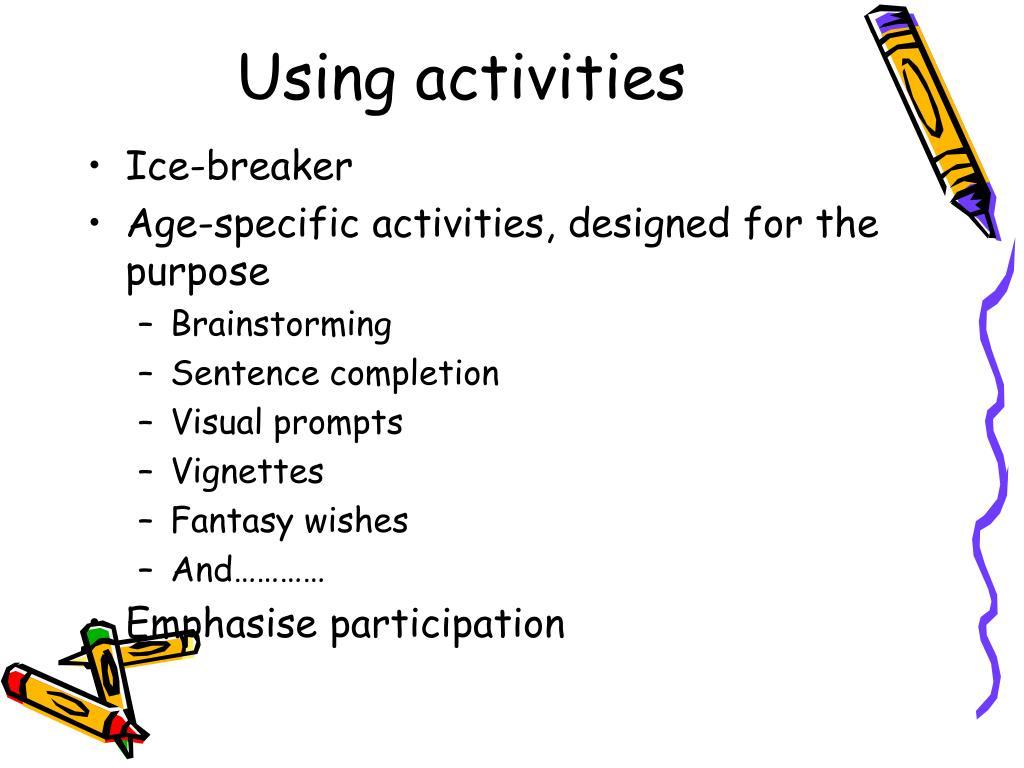 Using activities